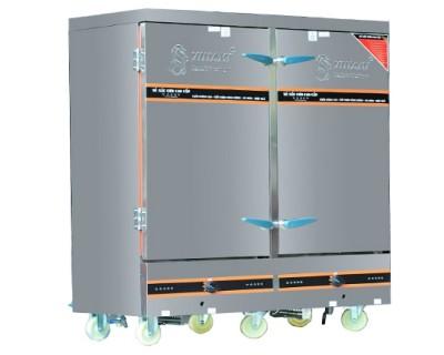 Tủ cơm công nghiệp điện 50 Kg gạo 2 cánh