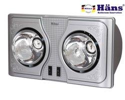 Đèn sưởi nhà tắm Hans H2B 2 bóng